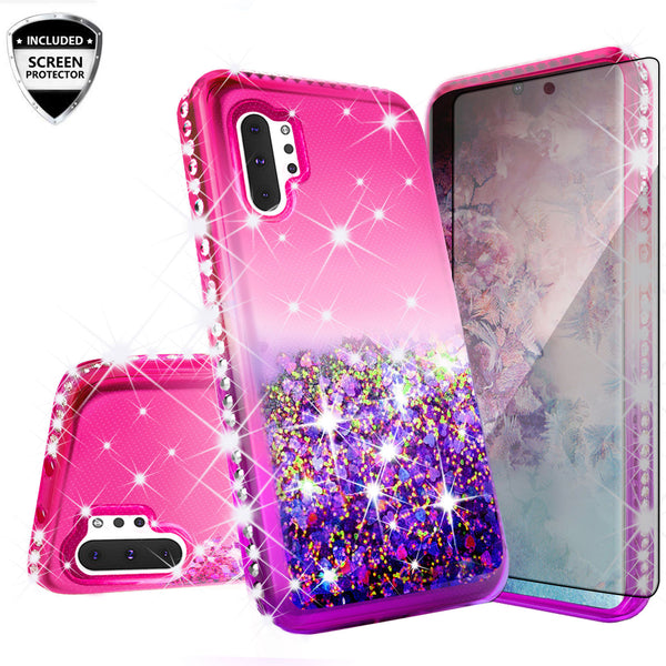 glitter phone case for samsung galaxy note 10 - hot pink/purple gradient - www.coverlabusa.com