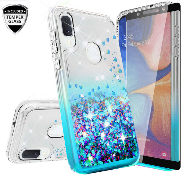clear liquid phone case for alcatel 3v (2019) - teal - www.coverlabusa.com