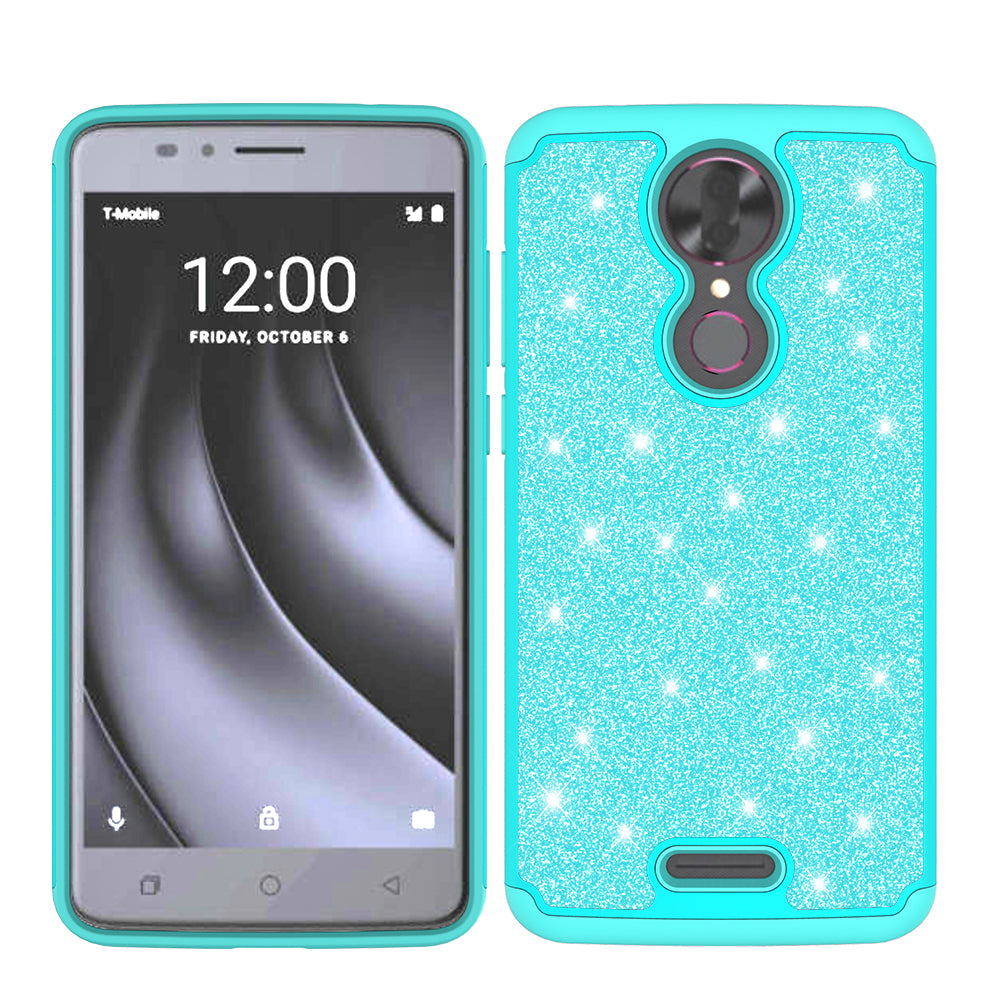 T-mobile REVVL+ Plus, Coolpad REVVL Plus Case, Glitter Bling Heavy Duty  Shock Proof Hybrid Case with [HD Screen Protector] Dual Layer Protective  Phone
