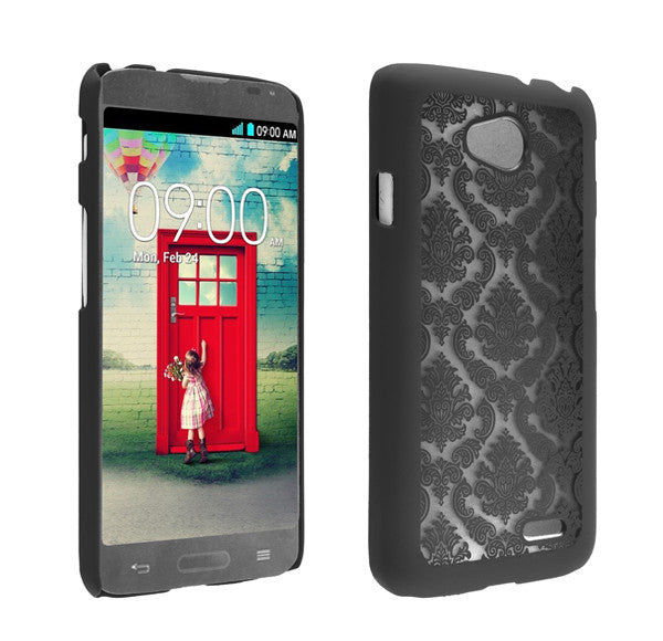 LG L70 Damask-Black- www.coverlabusa.com