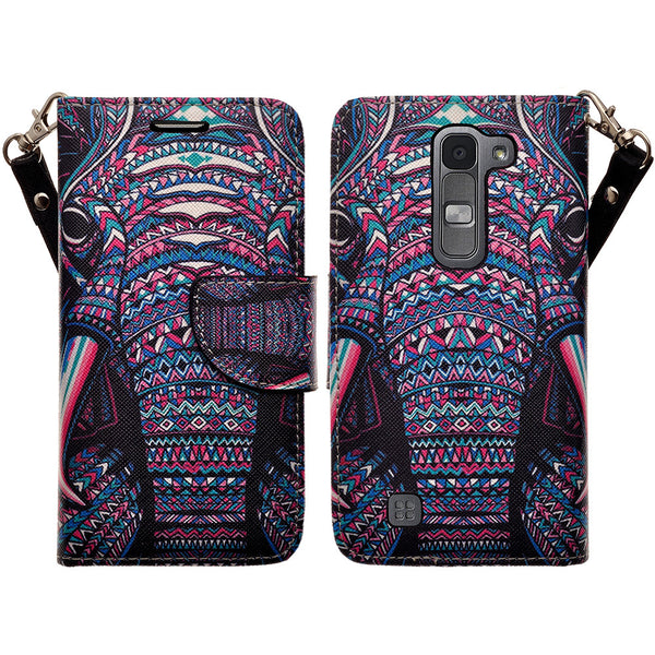 lg volt2 wallet case - tribal elephant - www.coverlabusa.com