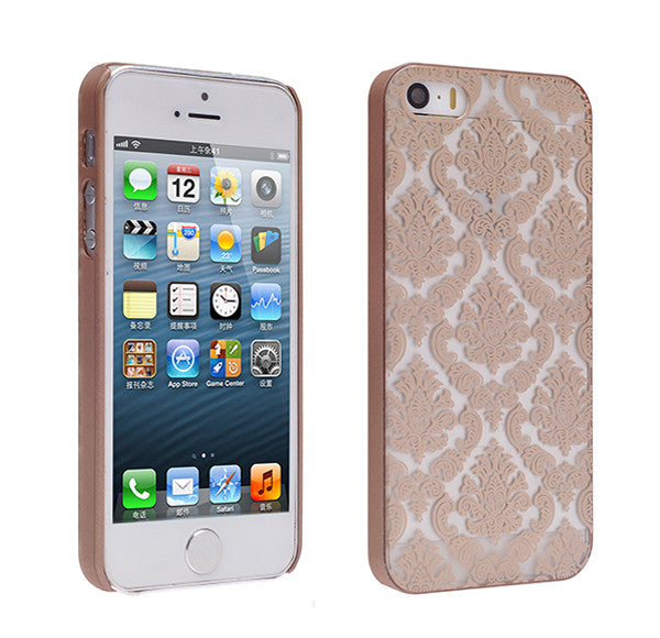 iPhone SE Case | iPhone 5S/5 damask-gold- www.coverlabusa.com