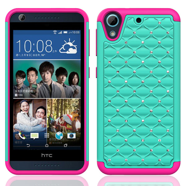 HTC Desire 626 Case Cover - Teal/Hot Pink - www.coverlabusa.com