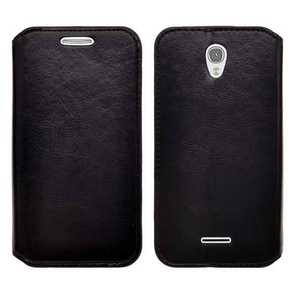 alcatel onetouch pop astro leather wallet case - black - www.coverlabusa.com