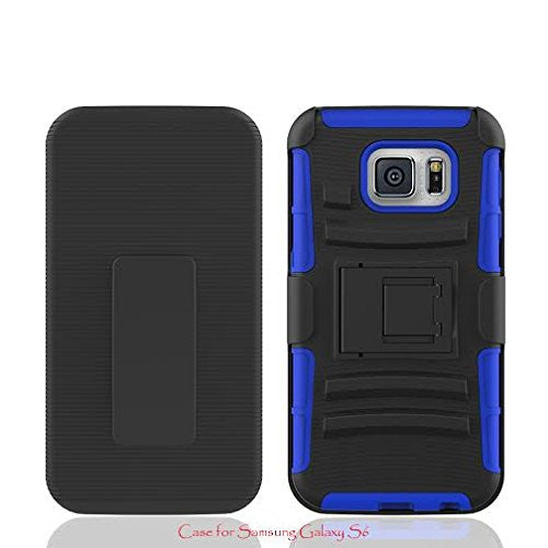 galaxy S6 holster shell case - blue - www.coverlabusa.com