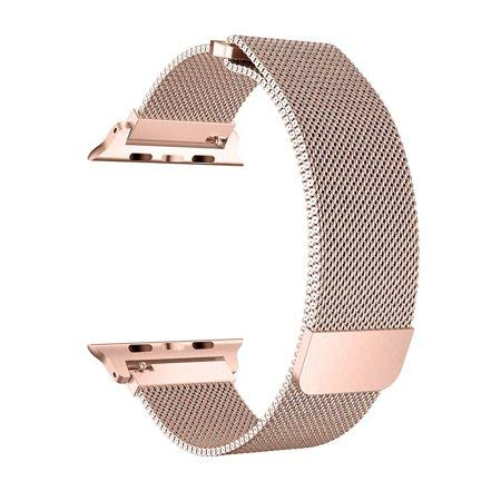 Apple iWatch Band Stainless Steel Mesh Milanese Loop - Rose Gold - www.coverlabusa.com