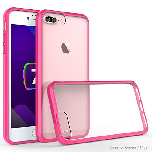 new concept 700be 6524b Apple iPhone 7 Plus Case, Easy Grip Slim Armor Bumper Case for Iphone 7  Plus - Hot Pink