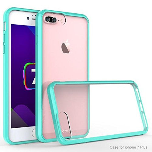 apple iphone 7 plus slim non slip grip bumper case teal - www.coverlabusa.com