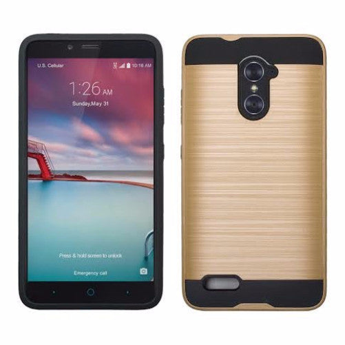 ZTE Grand X Max 2 | Imperial Max/Max Duo Hybrid Case - Brush Gold - coverlabusa.com