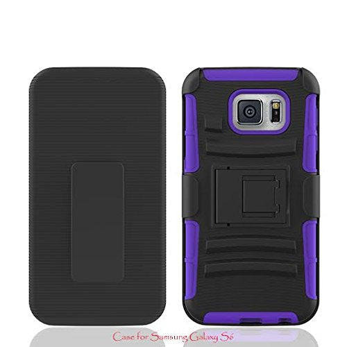 galaxy S6 holster shell case - purple - www.coverlabusa.com