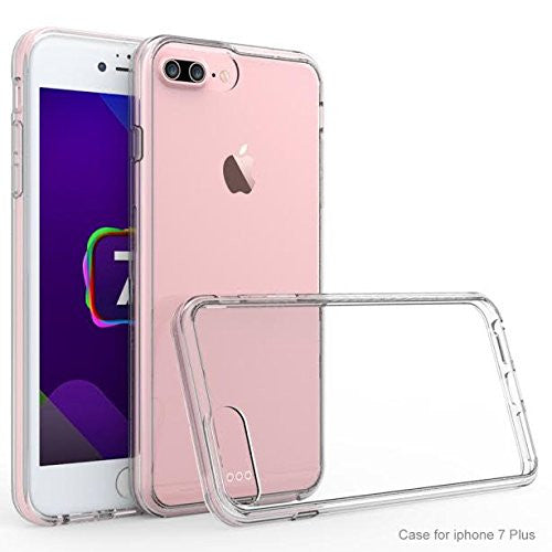 apple iphone 7 plus slim non slip bumper case clear - www.coverlabusa.com