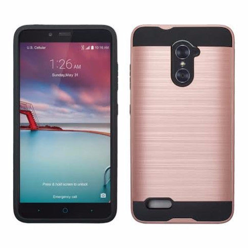 ZTE Grand X Max 2 | Imperial Max/Max Duo Hybrid Case - Brush Rose Gold - coverlabusa.com
