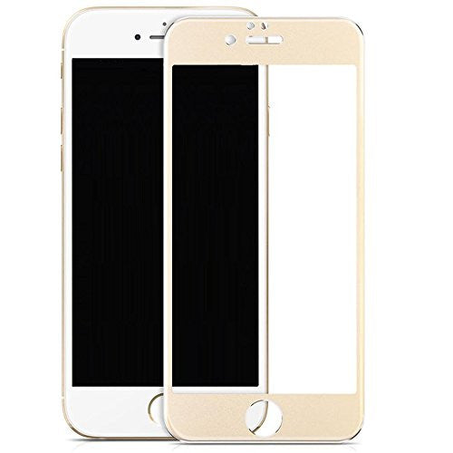 iphone 7 screen protector, iphone 7 temper glass - gold - www.coverlaubusa.com