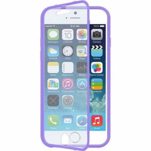 iphone 6 full body tpu case with screen protector - purple - www.coverlabusa.com