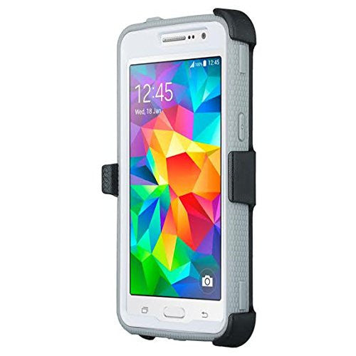 Samsung Galaxy Core Prime Prime Case holster screen protector, white www.coverlabusa.com