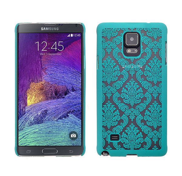 Galaxy Note 4 Damask-Teal- www.coverlabusa.com