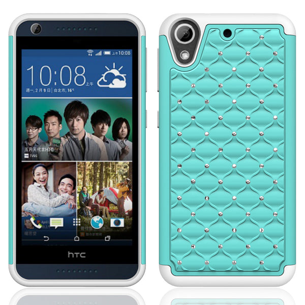 HTC Desire 626 Case - Baby Teal/White - www.coverlabusa.com