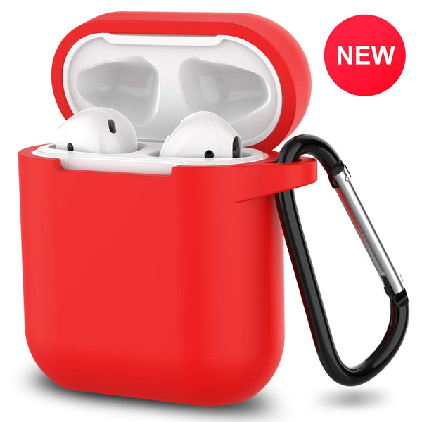 apple airpods charging case silicone cover - www.coverlabusa.com - red