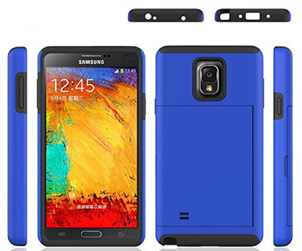 samsung galaxy note 4 case with card slot - blue - www.coverlabusa.com
