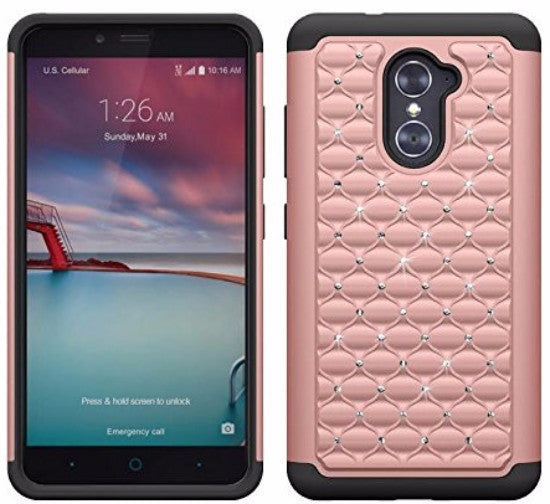 ZTE Grand X Max 2 | Imperial Max/Max Duo - diamond hybrid - pink - coverlabusa.com