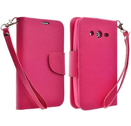 Galaxy Go Prime / Grand Prime Wallet Case hot pink, www.coverlabusa.com