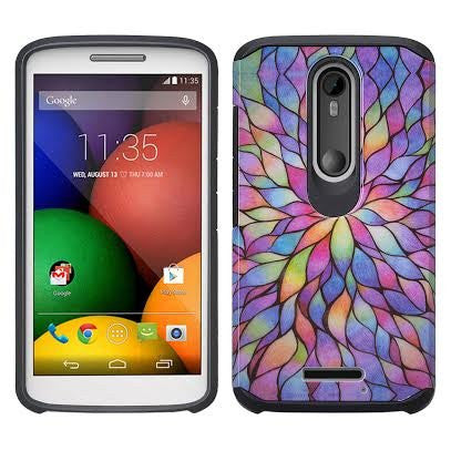 Motorola Droid Turbo 2 Case | Moto X Force Case | Kinzie Bounce Case - rainbow flower - www.coverlabusa.com