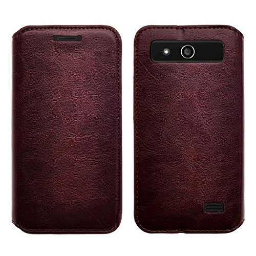 zte speed case - wallet brown - www.coverlabusa.com