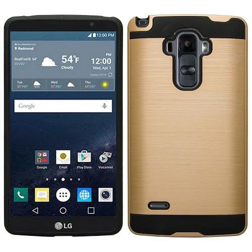 LG G Stylo Case, LG G Vista 2 Case - brush gold - www.coverlabusa.com