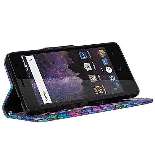 zte tempo wallet case - rainbow flower - www.coverlabusa.com