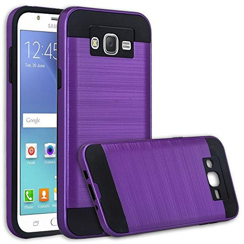 Galaxy J7 Case, Samsung Galaxy J7 [Shock Absorption / Impact Resistant] Hybrid Dual Layer Armor Defender Protective Case Cover for Galaxy J7 (Boost Mobile,Virgin,MetroPcs,T-Mobile), Purple, www.coverlabusa.com