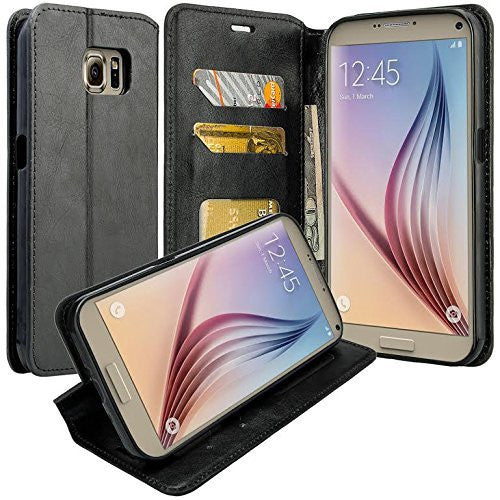 samsung galaxy note 5 case - Pu leather wallet - Black - www.coverlabusa.com