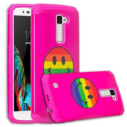 LG K7 / Tribute 5 / Treasure hybrid case - rainbow emoji - www.coverlabusa.com