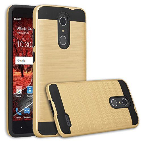 ZTE Grand X 4 Case, ZTE Grand X4 [Shock/Impact Resistant] Hybrid Protective Case Cover for ZTE Grand X 4, gold - www.coverlabusa.com