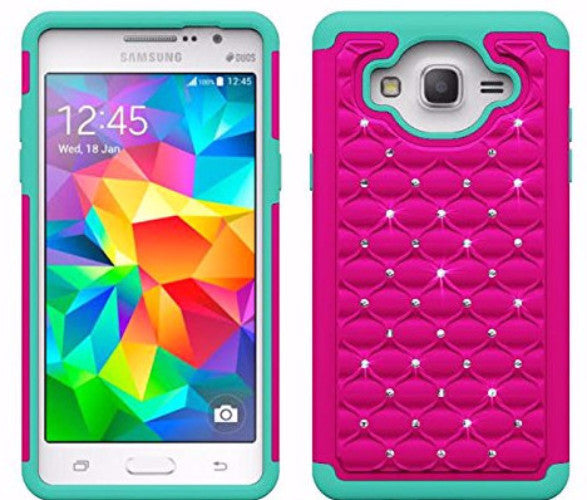 galaxy on5 diamond case - hot pink/teal - www.coverlabusa.com