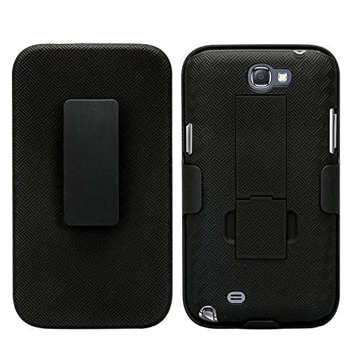 samsung galaxy note 2 case holster shell - black - www.coverlabusa.com