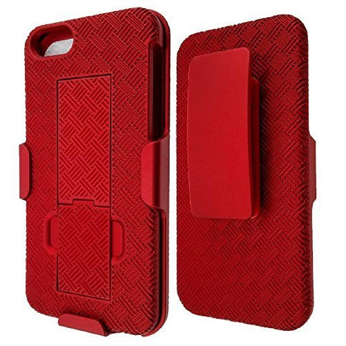 apple iphone 5S 5 SE holster case - red - www.coverlabusa.com