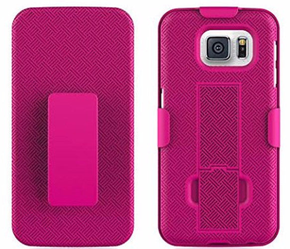 galaxy s6 holster shell combo hot pink coverlabusa.com