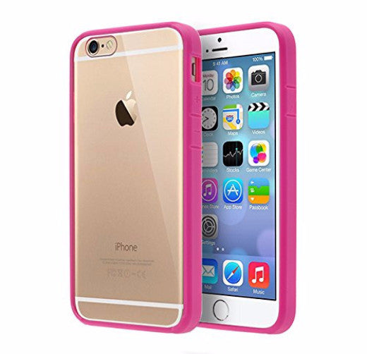 best service 98e20 a6544 Apple iPhone 6s Plus Case / 6 Plus Case, Easy Grip Slim Armor Bumper Case  for Iphone 6s Plus/6 Plus - Hot Pink