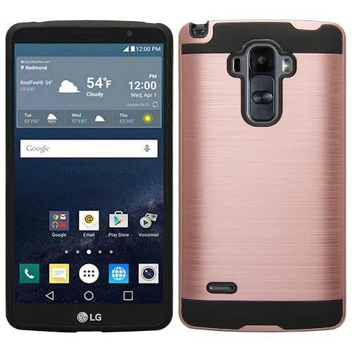 LG G Stylo Case, LG G Vista 2 Case - brush rose gold - www.coverlabusa.com