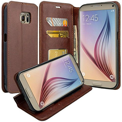 samsung galaxy note 5 case - Pu leather wallet - Brown - www.coverlabusa.com