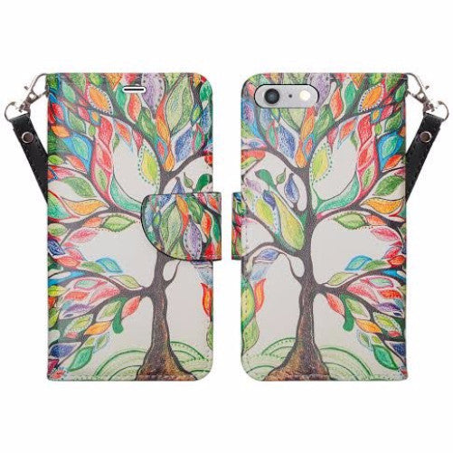 iphone 6 case, iphone 6 wallet case - colorful tree - www.coverlabusa.com