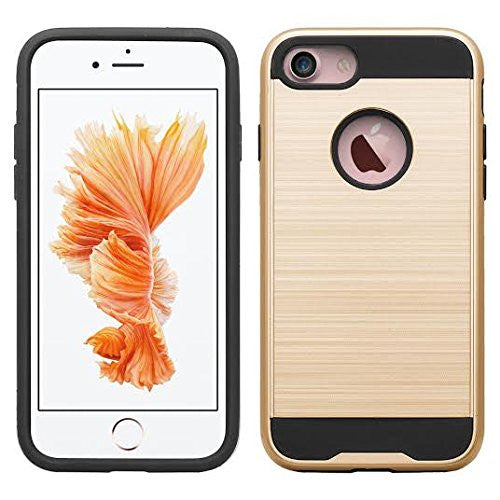apple iphone 7 plus hybrid case - brush gold - www.coverlabusa.com