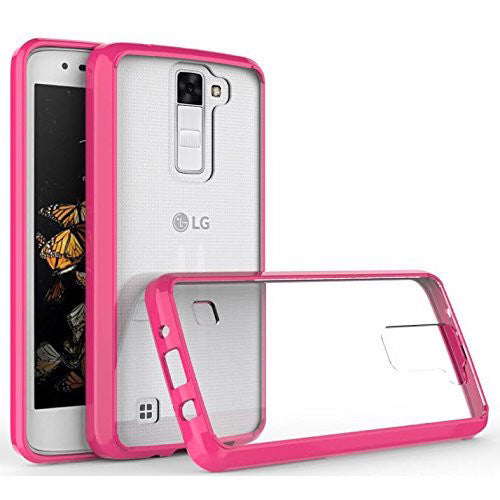 lg stylo 2 plus bumper case - hot pink - www.coverlabusa.com