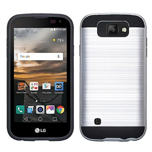 lg k3 case - brush silver - www.coverlabusa.com