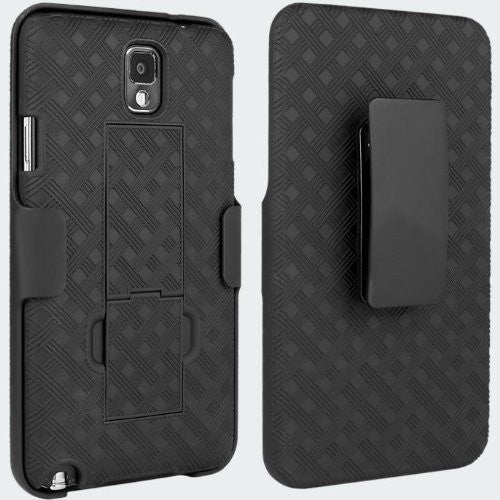 Samsung Galaxy Note 3 Holster Shell Clip Case - www.coverlabusa.com - black
