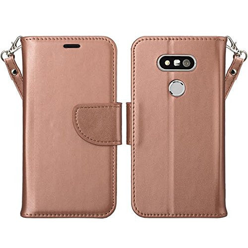 lg g5 double fold wallet case - rose gold - www.coverlabusa.com