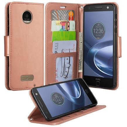 Motorola Z Force Droid Wallet Case - Rose Gold - www.coverlabusa.com