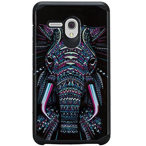 Alcatel Pixi Glory Case, Flint, Fierce XL, Jitterbug Smart, Slim Hybrid Dual Layer Case - Elephant - www.coverlabusa.com