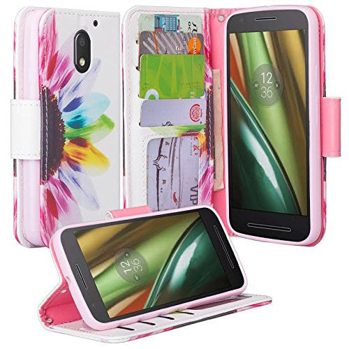 motorola Moto G4 Case | Moto G4 Plus leather wallet magnetic fold case - vivid sunflower - www.coverlabusa.com