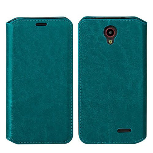 ZTE Prestige | Sonata 3 | Avid Plus | Avid Trio | Chapel Wallet Case [Card Slots + Money Pocket + Kickstand] - Teal - www.coverlabusa.com